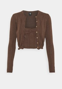 BDG Urban Outfitters - TWIN SET - Chaqueta de punto - chocolate - 4
