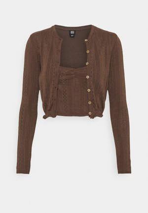 TWIN SET - Strikjakke /Cardigans - chocolate