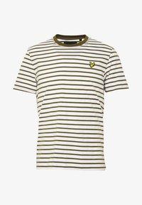 Lyle & Scott - BRETON STRIPE  - Print T-shirt - lichen green/ white - 3
