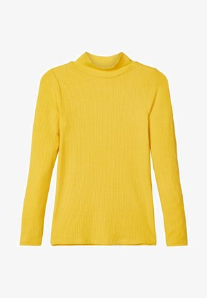 T-SHIRT LANGÄRMELIGES STEHKRAGEN - Long sleeved top - spicy mustard