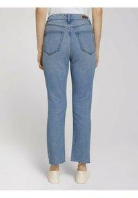 TOM TAILOR DENIM - Straight leg jeans - used mid stone blue denim - 2