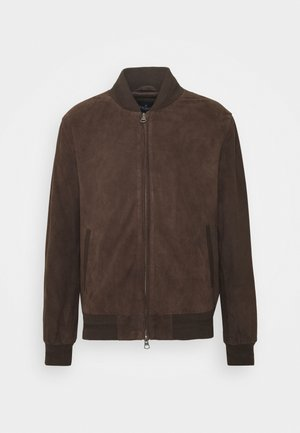 BLOUSON - Leather jacket - brown