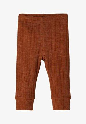 NBMWANG NEEDLE UNISEX - Leggings - Trousers - mocha bisque