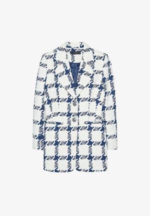 MIT AUSGEFALLENEN KNÖPFEN  - Short coat - dark blue