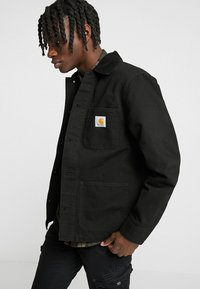 Carhartt WIP - MICHIGAN COAT DEARBORN - Kurtka wiosenna - black rinsed - 0