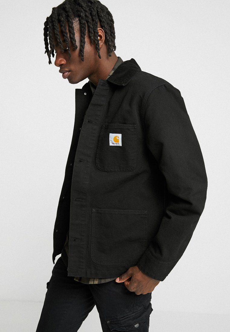 Carhartt WIP - MICHIGAN COAT DEARBORN - Kurtka wiosenna - black rinsed