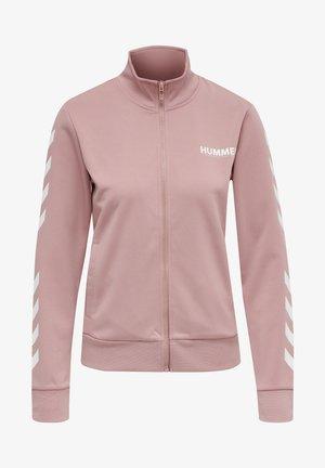 Zip-up sweatshirt - woodrose