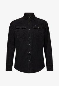 G-Star - 3301 SLIM LONG SLEEVE - Shirt - dk black gd - 4