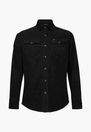 3301 SLIM LONG SLEEVE - Shirt - dk black gd