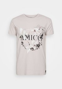 AVELLINO - Print T-shirt - sand