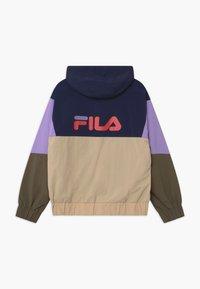 Fila - TILLI BLOCKED HOODED  - Training jacket - black iris/irish cream/sand verbena/grape leaf - 1