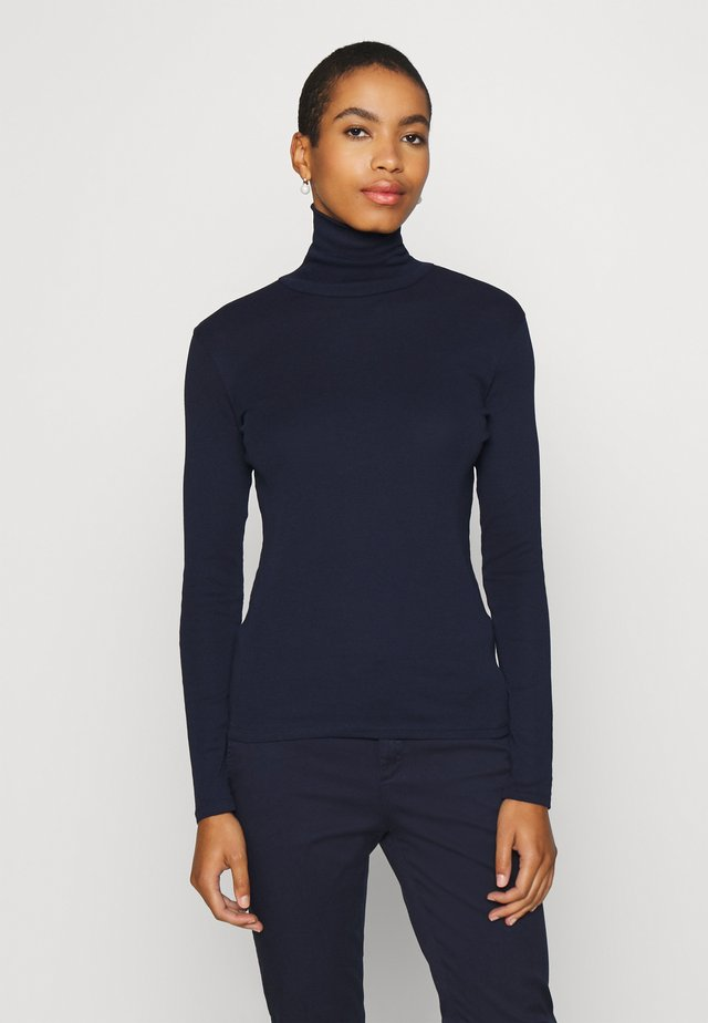 TURTLE NECK - Topper langermet - navy