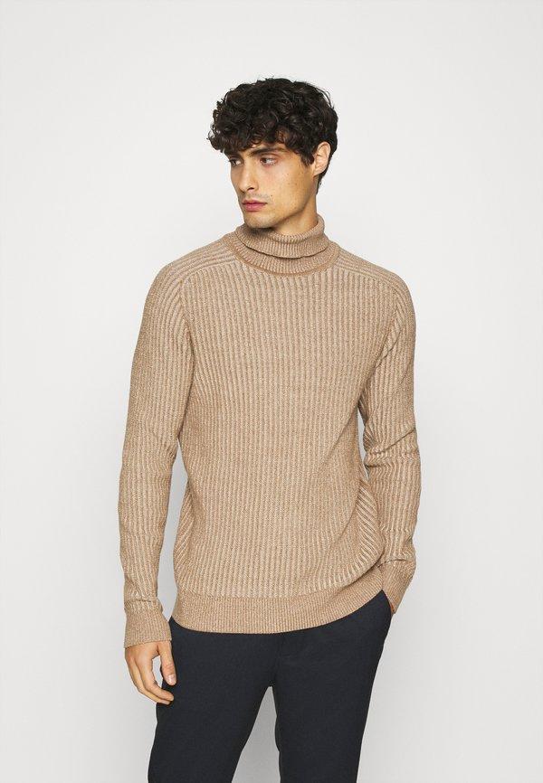 Pier One Sweter - mottled beige/beżowy melanż Odzież Męska ZGIR