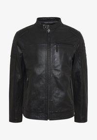 Esprit - BIKER - Veste en cuir - black - 4