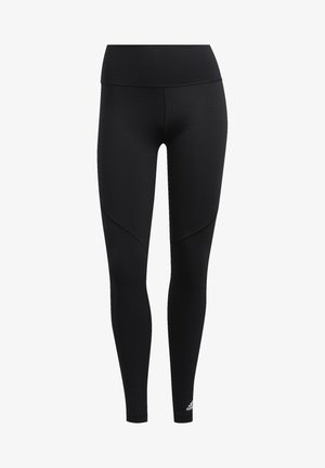 BELIEVE THIS  -STRIPES MESH LONG LEGGINGS - Leggings - black