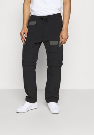 ZIP OFF - Pantalon cargo - blacks