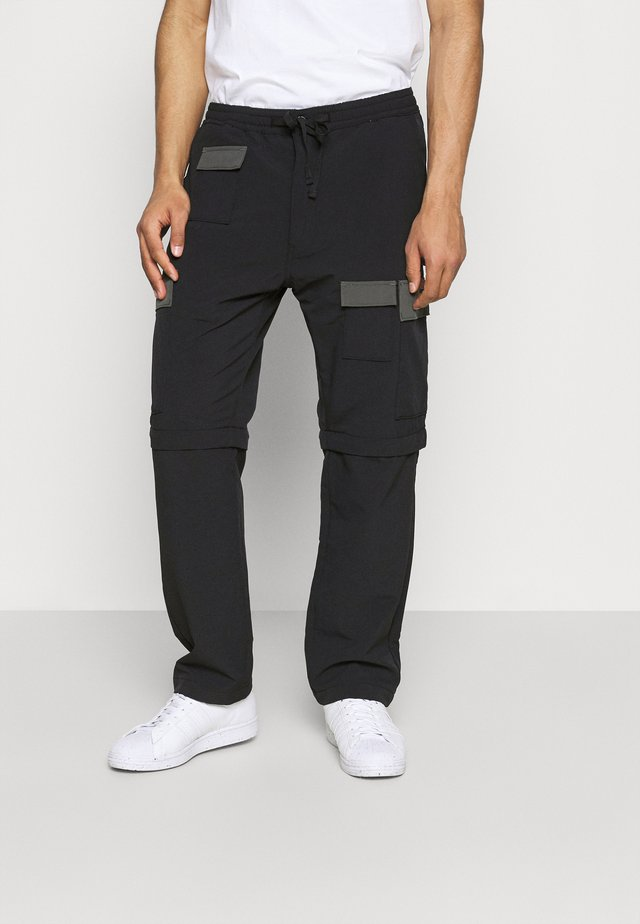 ZIP OFF - Cargo trousers - blacks
