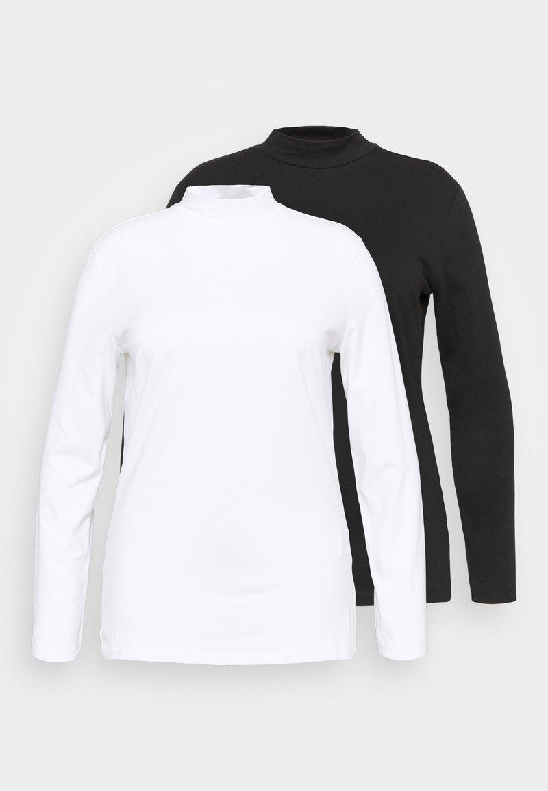Anna Field - 2 PACK - Top sdlouhým rukávem - black/white