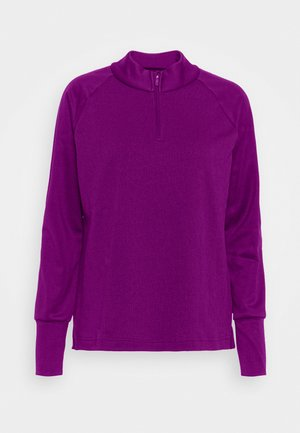 THERMA LONG SLEEVE ZIP - Mikina - bright grape/bright grape