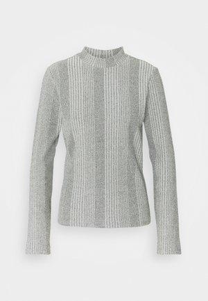 PCMANVI T NECK - Sweter - dark grey melange