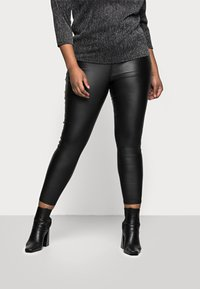 Simply Be - HIGH WAIST SKINNY - Jeans Skinny Fit - black - 0