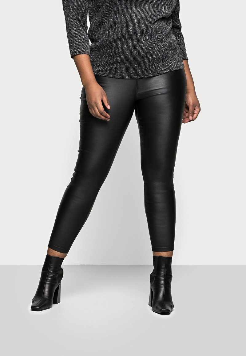 Simply Be - HIGH WAIST SKINNY - Jeans Skinny Fit - black