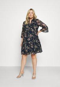 Vero Moda Curve - VMKAY DRESS - Sukienka letnia - navy blazer - 0