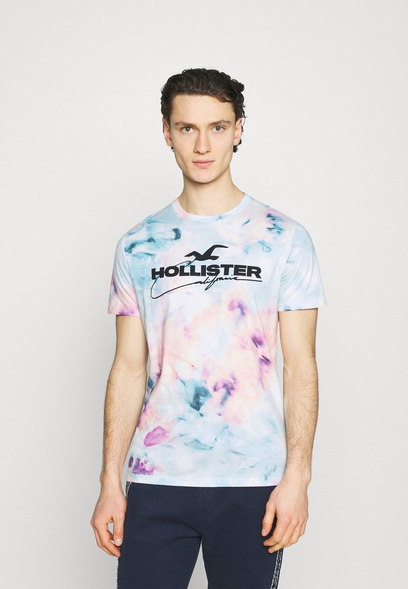 Hollister Co. - Print T-shirt - multicolo/blue