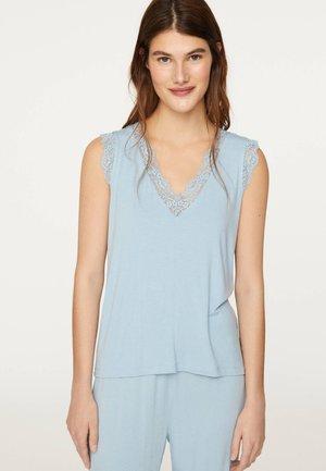 MIT SPITZE - Pyžamový top - light blue