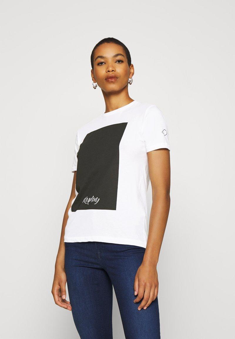 Replay - Print T-shirt - optical white