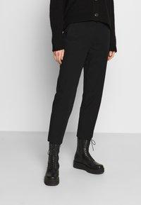 Marc O'Polo - PANTS STRAIGHT LEG - Trousers - black - 0