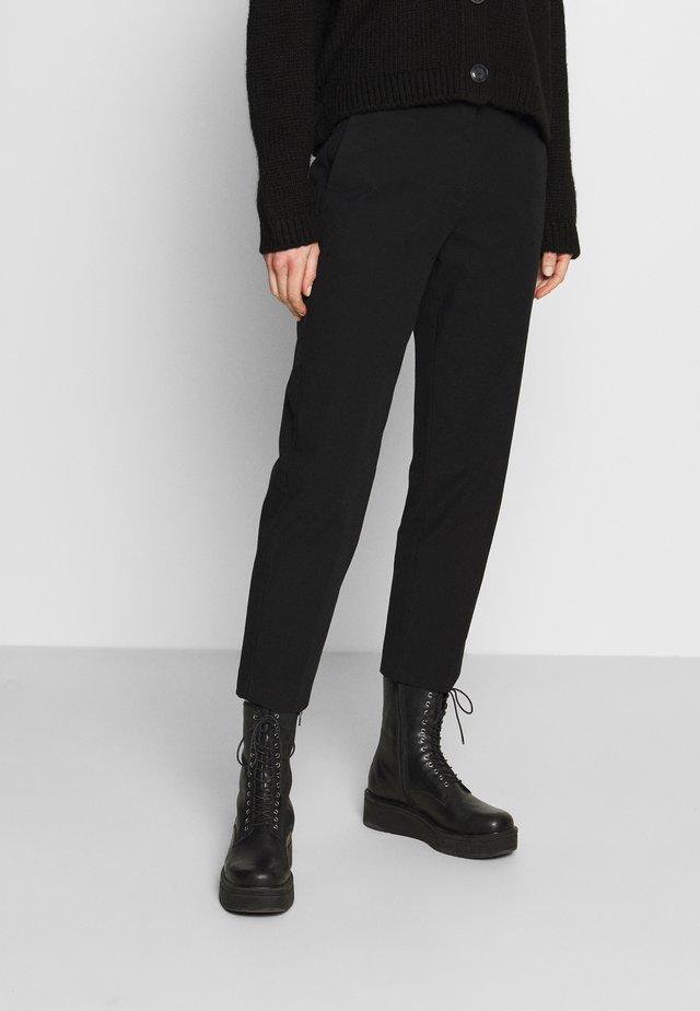 PANTS STRAIGHT LEG - Kalhoty - black