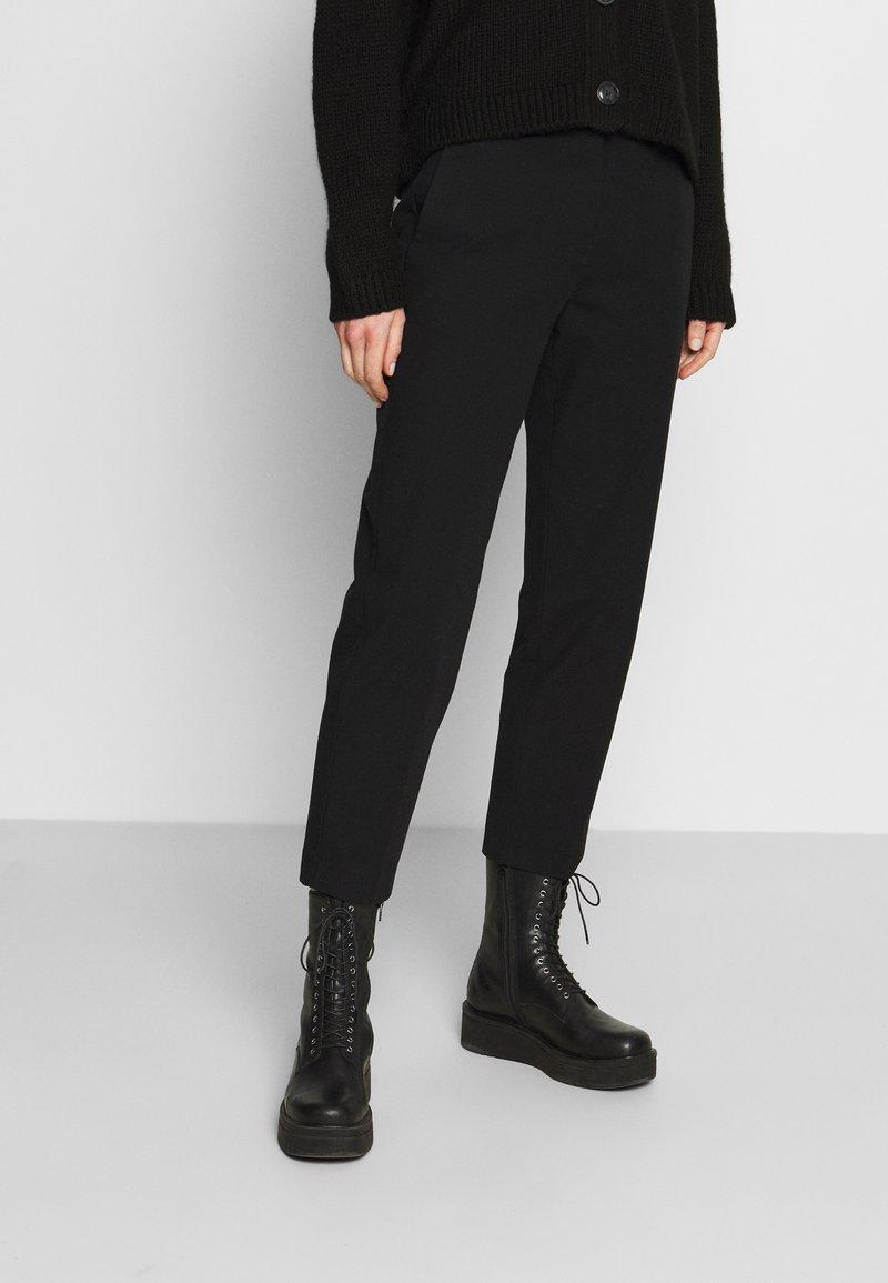 Marc O'Polo - PANTS STRAIGHT LEG - Trousers - black