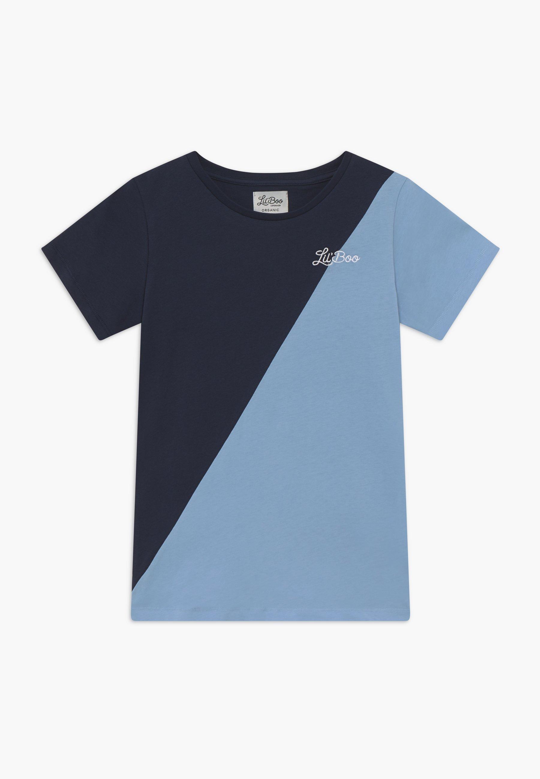 Große Förderung Lil'Boo SPLIT - T-Shirt print - navy/light blue | Damenbekleidung 2020