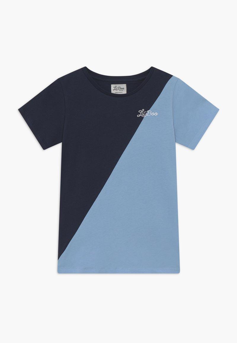 Lil'Boo - SPLIT - T-shirt con stampa - navy/light blue