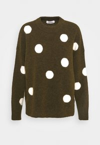 LONG SLEEVE WITH POLKA DOTS PATTERN - Jumper - multi/burnished logs