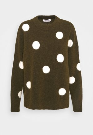 LONG SLEEVE WITH POLKA DOTS PATTERN - Pullover - multi/burnished logs