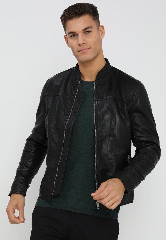 TRENTO - Leren jas - black