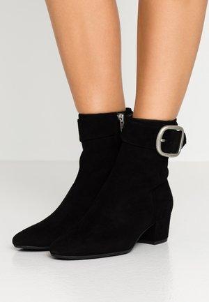 CASSANDRA BUCKLE BOOTIE - Classic ankle boots - black