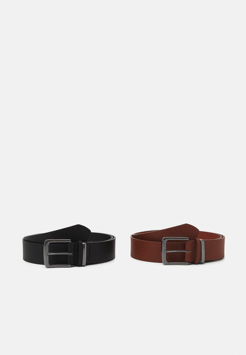 Pier One - 2 PACK - Vyö - black/brown