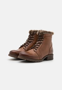 Anna Field - LEATHER - Lace-up ankle boots - cognac - 1