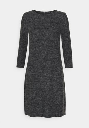 VMTAMMI ZIP DRESS - Robe fourreau - dark grey melange