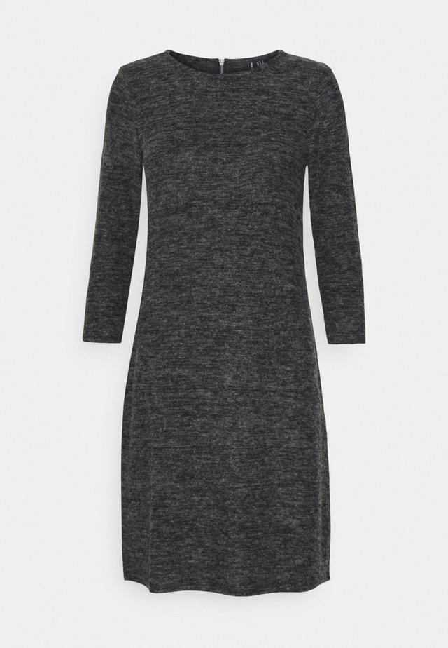 VMTAMMI ZIP DRESS - Shift dress - dark grey melange