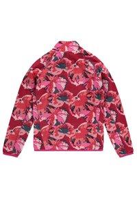 O'Neill - PRINTED FULL ZIP - Fleece jacket - red aop w/ pink or purple - 1