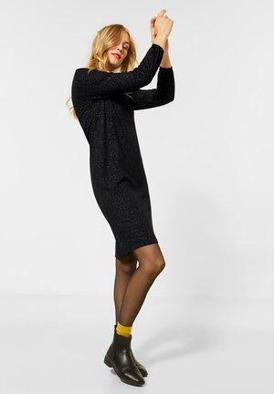 MIT GLITZER - Jersey dress - schwarz