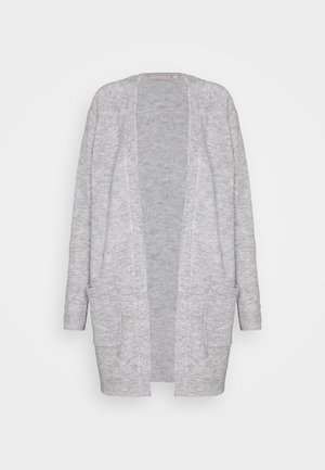 PCPERLA LONG  - Cardigan - light grey melange