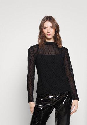 FELICIA DOBBY - Long sleeved top - black