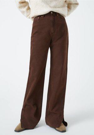 Džíny Straight Fit - dark brown