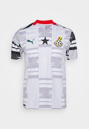 GHANA GFA HOME  - Printtipaita - white/black