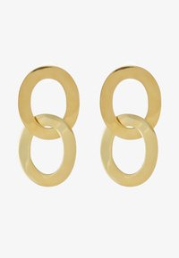 MAXI LINKED DROP EARRINGS - Náušnice - gold-coloured
